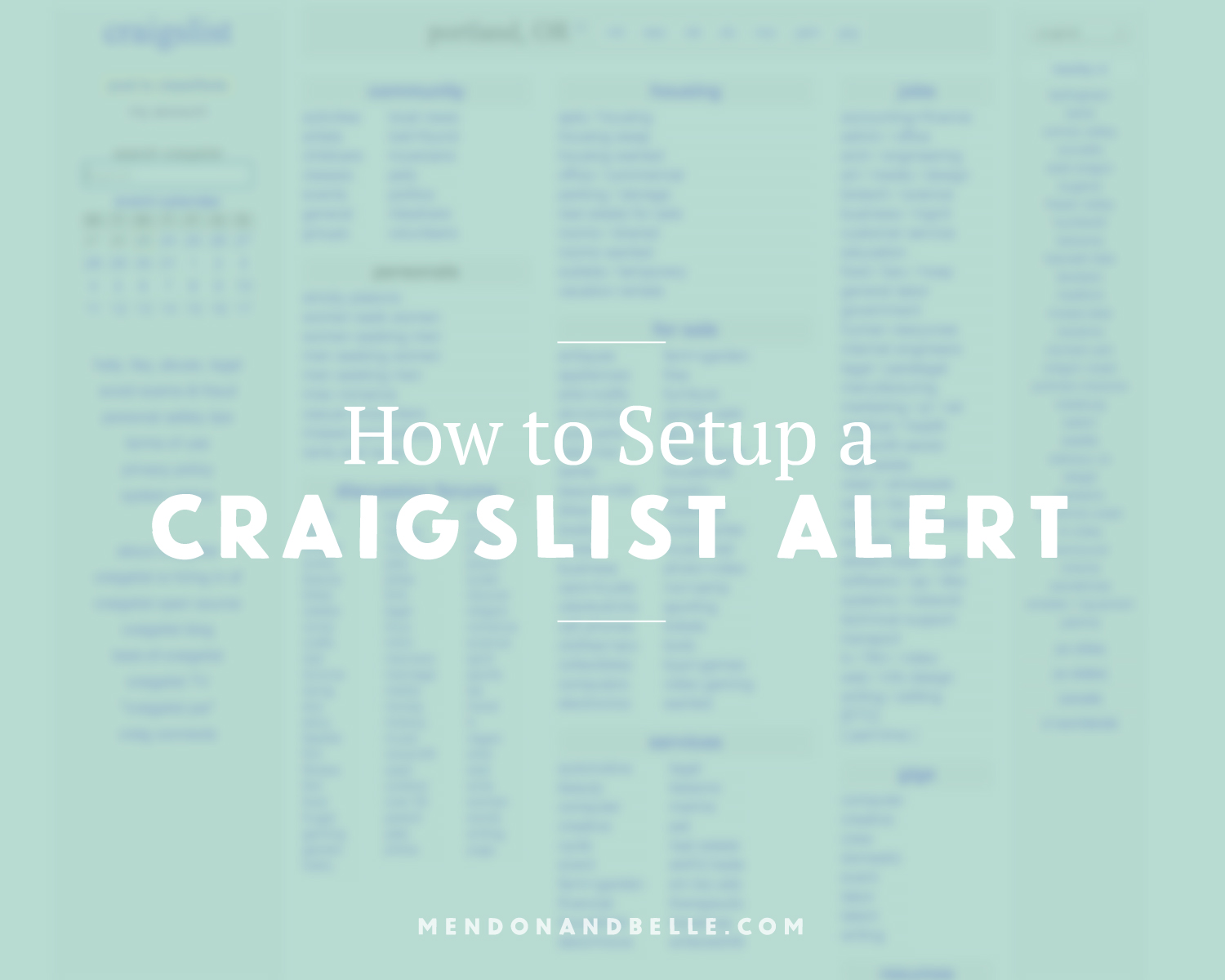 How to Set Up Craigslist Alerts