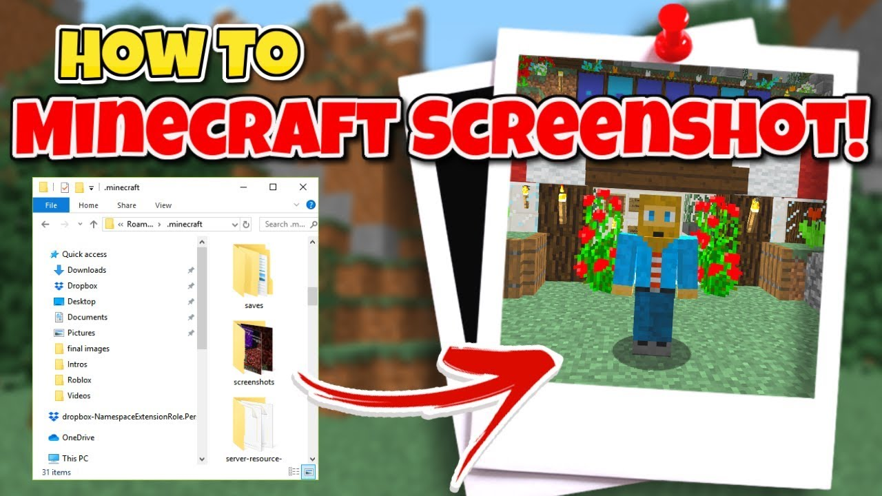 where are Minecraft screenshots saved
